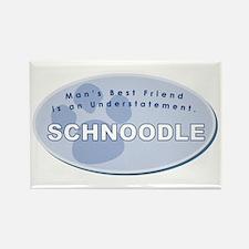 Best Friend Schnoodle Rectangle Magnet