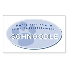Best Friend Schnoodle Rectangle Decal