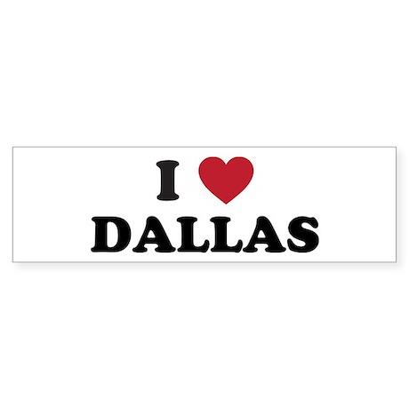 I Love Dallas Sticker (Bumper)