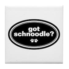 Got Schnoodle? Tile Coaster