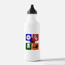 I Heart Monster Movies Logo Water Bottle