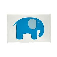 Blue Elephant Rectangle Magnet