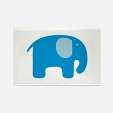 Blue Elephant Rectangle Magnet (10 pack)