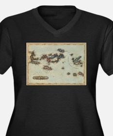 Vintage Map of The Virgin Island Plus Size T-Shirt