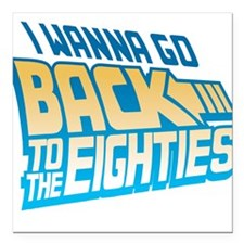 Back To The 80s Square Car Magnet