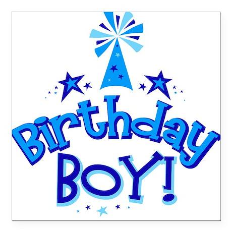 Birthday Boy Square Car Magnet