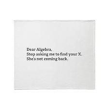 Dear Algebra Throw Blanket