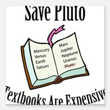 Save Pluto: Textbooks Are Ex Square Car Magnet