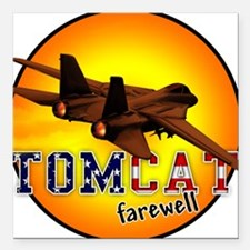 f-14 tomcat farewell Square Car Magnet
