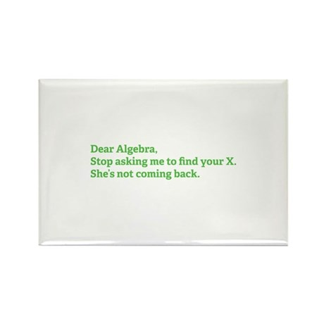 Dear Algebra Rectangle Magnet (100 pack)