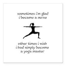 Nursing Yoga Master Square Car Magnet