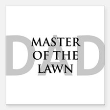 MASTER OF THE LAWN Square Car Magnet