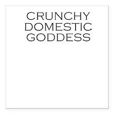Crunchy Domestic Goddess Square Car Magnet