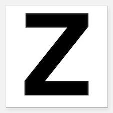 Z Helvetica Alphabet Square Car Magnet