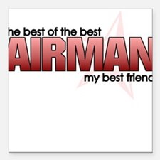 Best of the best:Airman Square Car Magnet