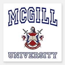 MCGILL University Square Car Magnet