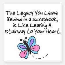 Scrapbooking Legacy Square Car Magnet