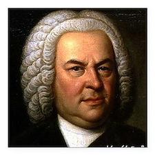 """Faces """"Bach"""" Square Car Magnet"""