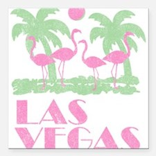 Vintage Las Vegas Square Car Magnet