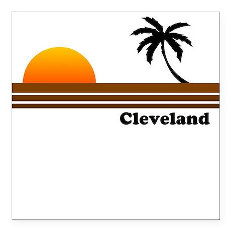 Cleveland Square Car Magnet