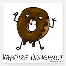 Vampire doughnut funny Square Car Magnet