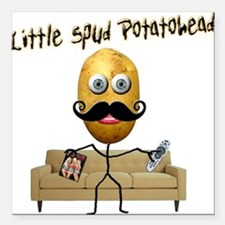 Little Spud Potatohead Square Car Magnet