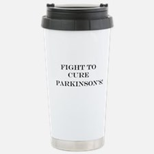 Fight to cure Parkinsons Stainless Steel Travel Mu