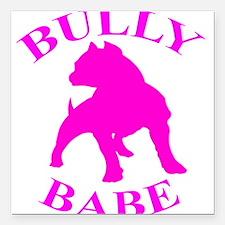 Bully Babe Square Car Magnet