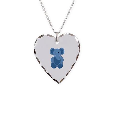 Elephant Necklace Heart Charm