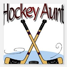 HOCKEY AUNT Square Car Magnet