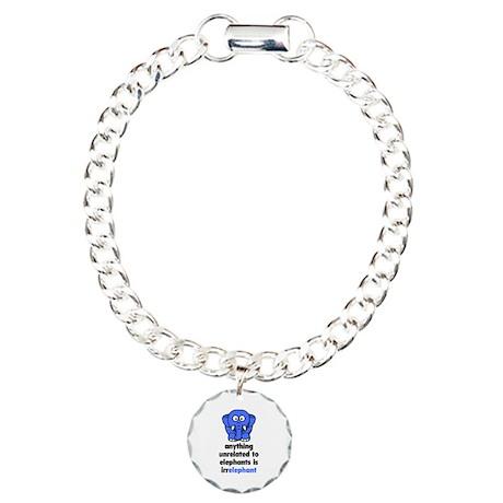 Irrelephant Charm Bracelet, One Charm