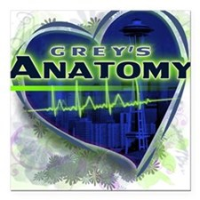 Grey's Anatomy TV Fan Square Car Magnet