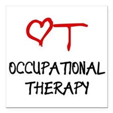 Occupational Therapy Heart Square Car Magnet