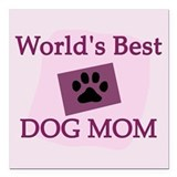 Dog lovers Square Car Magnets
