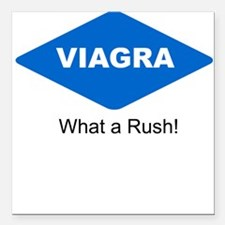 What a Rush! Square Car Magnet