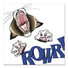 Rowr kitty Square Car Magnet