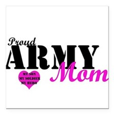 Army Moms Square Car Magnet