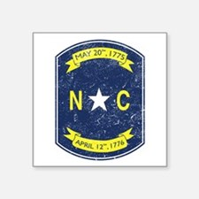 "NC_shield.png Square Sticker 3"" x 3"""