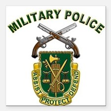 US Army Military Police Crest Square Car Magnet