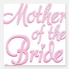 Amore Mother Bride Pink Square Car Magnet