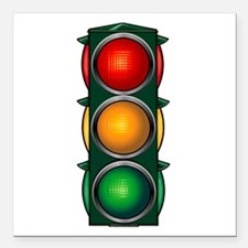 Stop Light Square Car Magnet