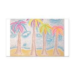 Colorful Palms Rectangle Car Magnet