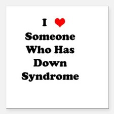 Down Syndrome Love Square Car Magnet