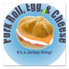 Pork Roll Square Car Magnet