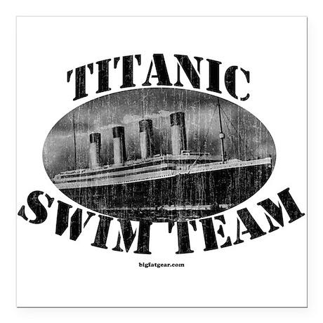 Titanic Swim Team Square Car Magnet