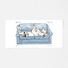 Merlequin couch Aluminum License Plate