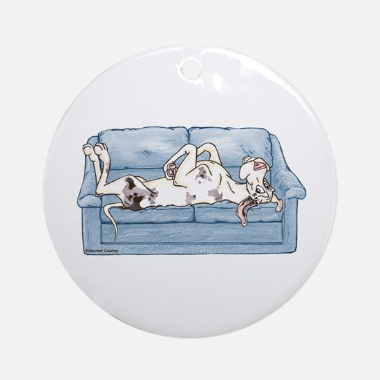 Merlequin couch Ornament (Round)
