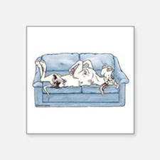 "Merlequin couch Square Sticker 3"" x 3"""