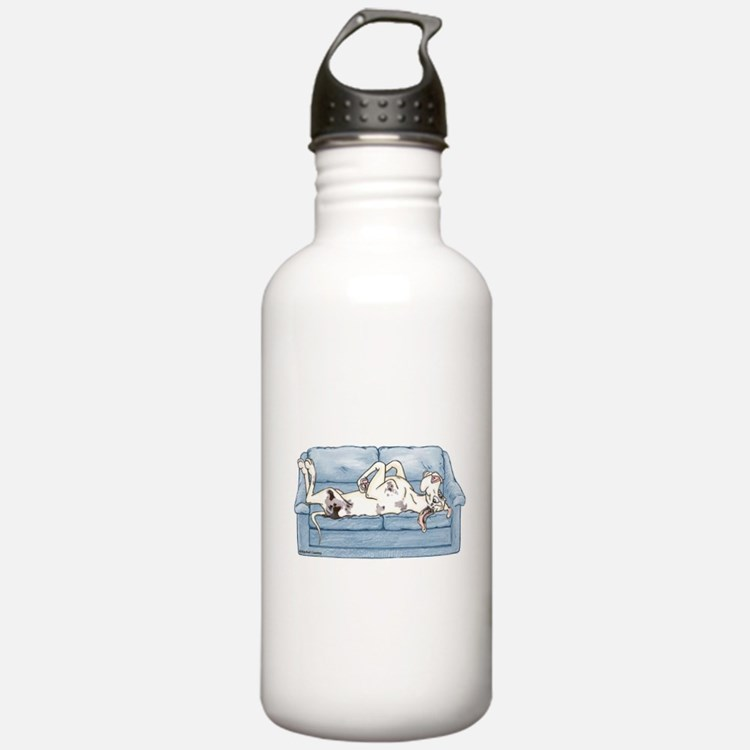 Merlequin couch Water Bottle