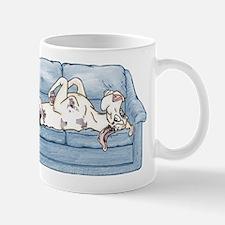 Merlequin couch Mug